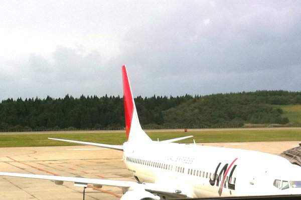"""As Akita is a small airport, it is usually served by single aisle aircraft like the Boeing 737 from Tokyo. JAL offers the wider """"J"""" class seats while some ANA services have business class seats as well. From Osaka or Sapporo the aircraft used is even smaller"""