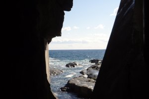 View from the caves out to the sea.