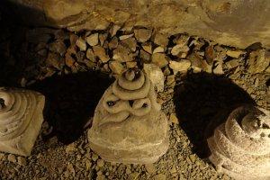 Snake statues.