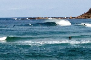 Surfing at Hattyohama Beach in Kyoto Prefecture