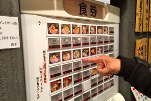I love the convenience of the ticket vending machine to place your ramen order.
