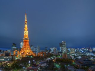 Of course, one of the greatest perks of the room is the view! From the balcony of the room - a balcony you can actually walk out onto, by the way - you have an absolutely killer view of Tokyo. The world famous Tokyo Tower stands tall in the foreground, joined by the beauty of Tokyo's Zojoji Temple (on the bottom right in the photo). In the distance you can see many of Tokyo's skyscrapers and even the new Tokyo Skytree.