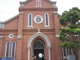 Front view of Aosagaura Church