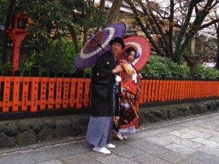 Un couple en kimono