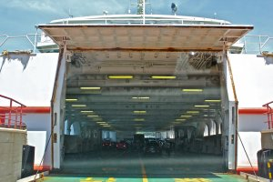 The ferry vessels can fix approximately 100 passenger vehicles including motorcycles, buses and cars.
