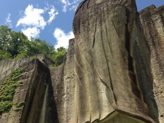 The Peace Kannon was carved out of rock following World War II in an effort to promote world peace