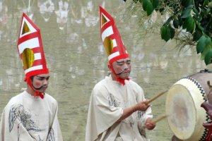 Gents drumming