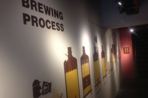 The mural of the brewing process