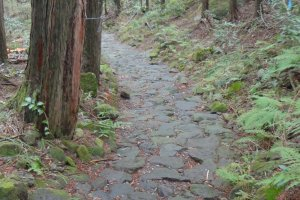 The Old Hakone Highway is a part of the Old Tokaido (the original road connecting Kyoto and Edo). It is now maintained as a hiking course between Moto-Hakone and Hakone Yumoto.