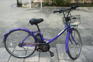 This is the electric bicycle that you can rent