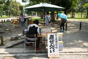 Deer senbei for 150 yen