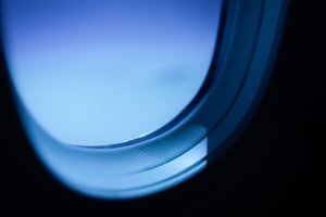 Instead of window shades, thestrength ofoutside light can be dimmed electronicallyvia controls beneath the window.