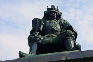 Statue of Lord Shingen Takeda
