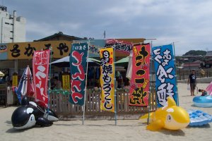 At Yunohama beach