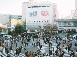 Shibuya Crossing on Sunday afternoon.