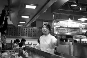 One of the kind waitresses at Akiyoshi