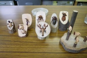 Creative hand made crafts in the Nature Observation and Study Hall