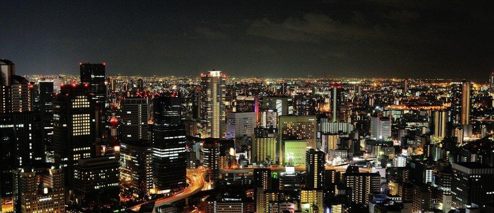 오사카의 멋진 야경