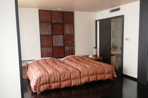 The Western and Japanese Combination room has Western Beds and a Japanese Tatami Room
