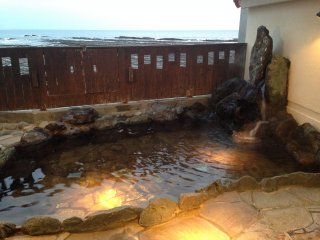 This private onsen is available to guests (booking is necessary)