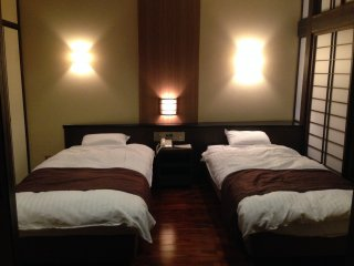 Twin beds or doubles are available
