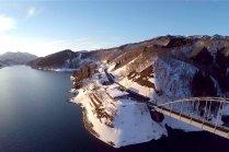 Danau Kuzuryu di Musim Dingin