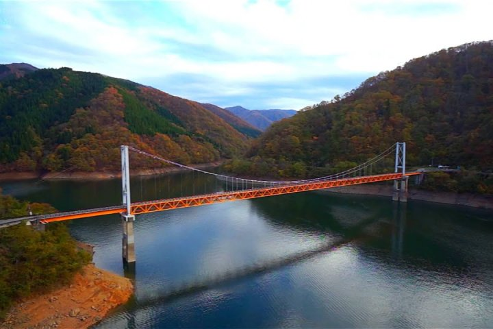 Autumn Beauty of Lake Kuzuryu