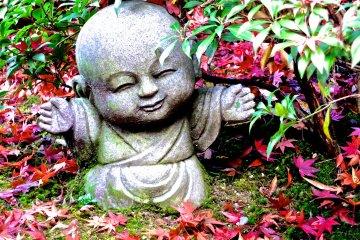미야지마의 아주 귀여운 지조 동상들!