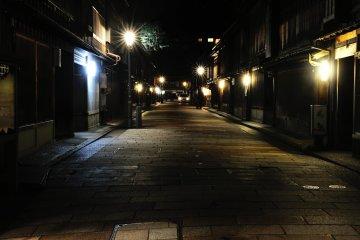 Вымощенные камнем улицы Канадзавы