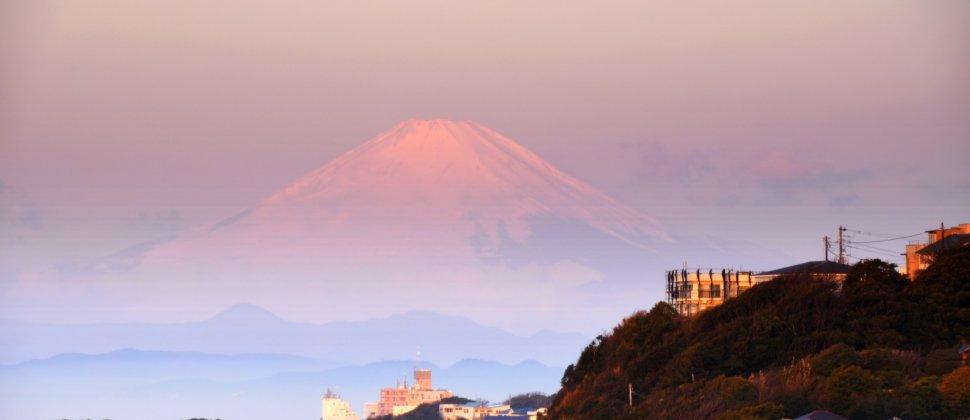 富士山と迎える鎌倉の朝