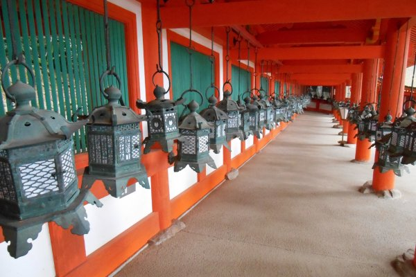 East cloister lanterns