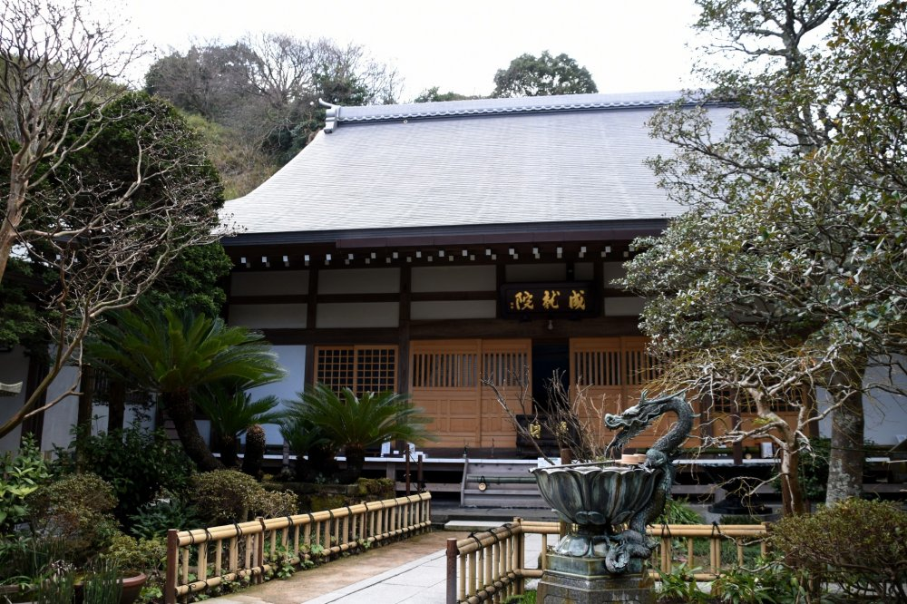잘 다듬어 진 일본 정원과 함께 조주인 본관 앞 풍경