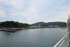 Arriving at Naoshima Port
