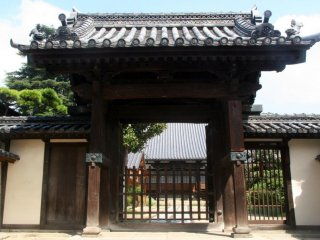 The gate to a shrine in the Bikan district
