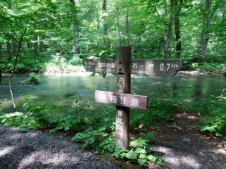 Signposts point the way along the trail