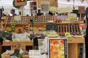 Some stands offer treats such as jams, honey and baked goods