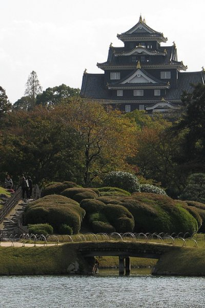 Okayama Castle viewed from Korakuen Garden