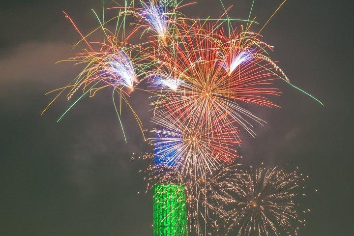 Skytree and Sumidagawa Fireworks