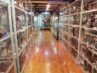 The museum houses thousands of model kits and figurines.