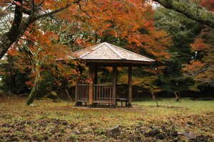 A gazebo on the open ground outside the 1st bailey