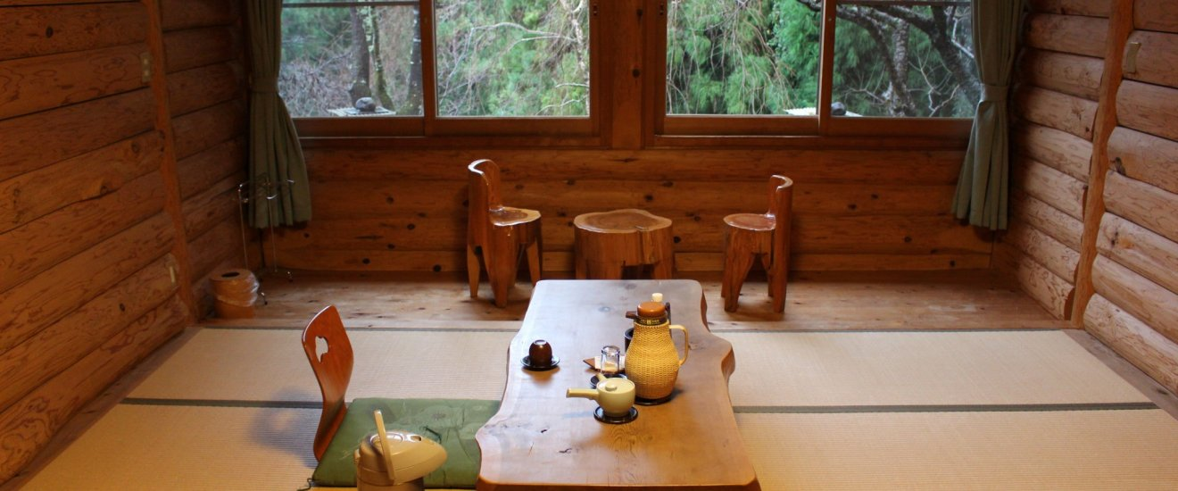 A room in the Ryokan Kato's Log House section