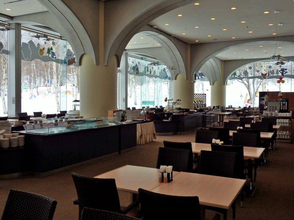 The first floor restaurant, Shirakaba