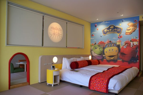 The special Chugginton train-themed room