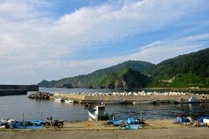 Kamaya Port on the tiny Awashima Island