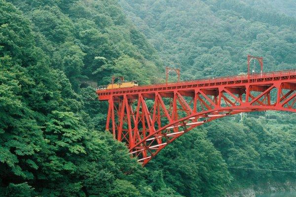 La ligne de train des gorges Kurobe