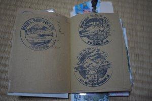 Trois tampons de la gare de Kutchan, à Hokkaido