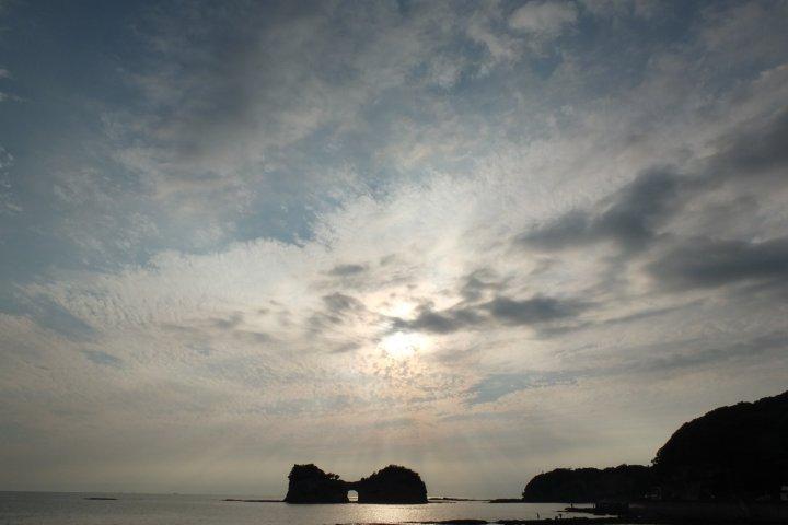 엔게쯔 섬의 환상적인 노을
