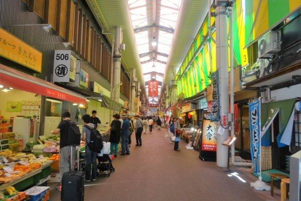 The Omicho Market in Kanazawa