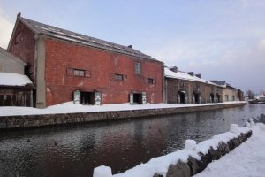 Warehouses by canal