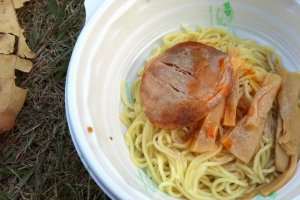 Spicy noodles.
